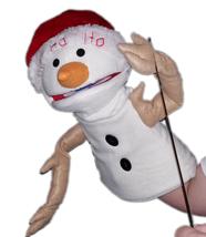 "Professional ""Santa Snowman"" Muppet Style Ventriloquist Puppet * Custom ... - $99.88"