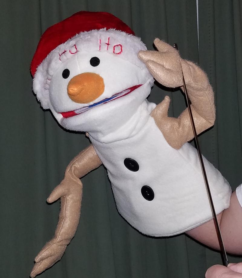 "Professional ""Santa Snowman"" Muppet Style Ventriloquist Puppet * Custom Made"