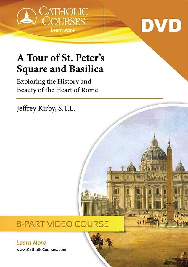 tour of st. peter s square and basilica  video dvd set   1 lecture guide  tour of st peters dvd