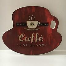 Sakura Coffee Break Caffe Espresso Red Canape Dessert Appetizer Plate - $11.29
