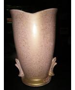 """Vintage McCoy Pink w/Gold Speckles 9 1/4"""" Tall Vase  - $39.59"""