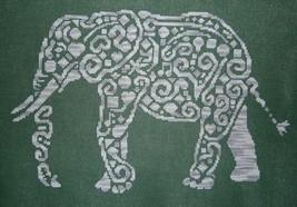 Tribal Elephant monochrome cross stitch chart White Willow stitching - $7.65