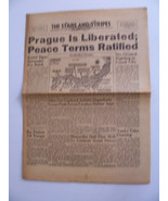 STARS & STRIPES PRAGUE LIBERATED PEACE RATIFIED SUPERFORTS BATTER JAPS W... - $48.51