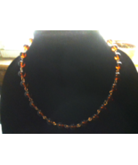Amber Beaded Necklace - $25.00