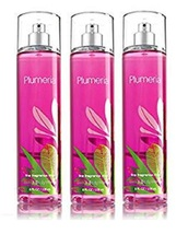 3 Bath & Body Works Signature Collection Plumeria Fine Fragrance Mist 8 ... - $26.99