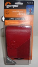 LowePro Red Leather Camera Case Hard Cover w/Belt Loop NWT  - $10.99