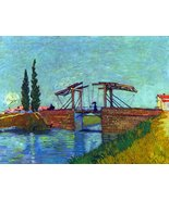 100% Hand Painted Oil on Canvas - The Anglois Bridge at Arles (The drawb... - $315.81