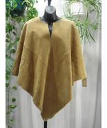 Newport News Solid Tan Genuine Suede/faux Fur L... - $39.99