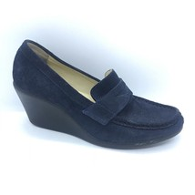Nine West Blue Wedge Loafers Women Size 6 Heeled Shoes - $25.00