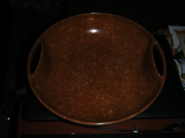 Mid Century Modern Aztec Melmac Dinnerware Brown Speckled Serving Bowl w... - $26.72
