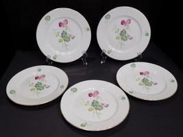 "5 Beautiful Vintage ROSENTHAL Selb Germany US Zone Floral 7 3/4"" Salad Plates - $48.02"