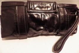 Kenneth Cole New York Clutch Wristlet Dark Brown Vegan Buckles - $19.34