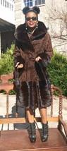 New Designer Hooded sable hue Swakara persian lamb Mink Fur coat S-M-8 F... - $2,299.98
