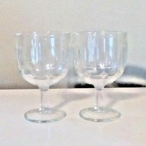 "Early American Pressed Glasses Water Wine Goblet 6"" Tall  6"" Diameter Lo... - $11.76"