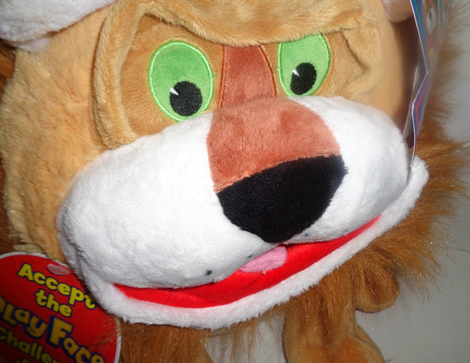 PLAY FACE PALS Plush Lion NWT All Ages Jay Play Pal Challenge