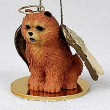 CHOW ANGEL DOG CHRISTMAS ORNAMENT HOLIDAY Figurine Statue Red - $12.38
