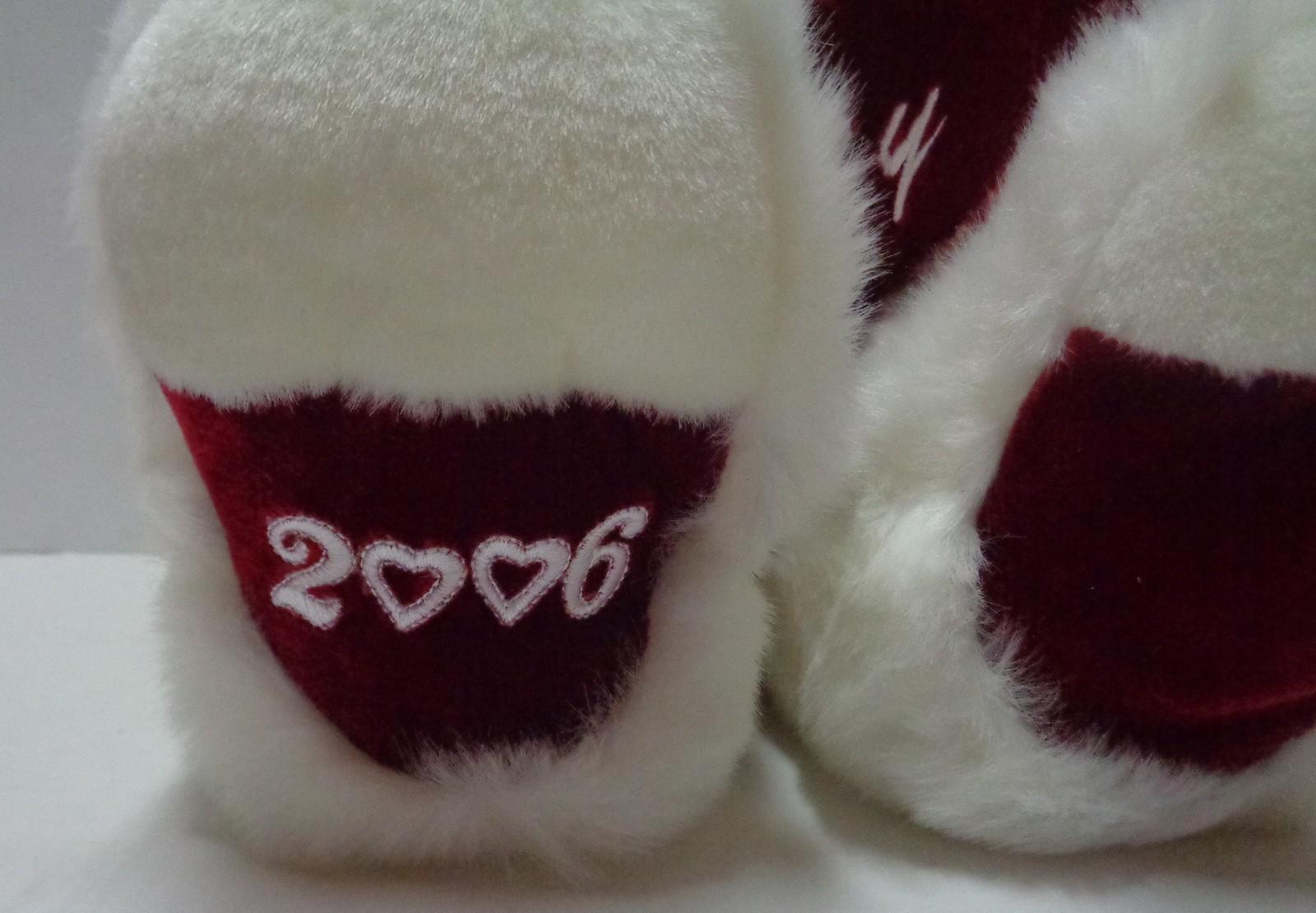 "DANDEE 2006 White Plush Teddy Bear Happy Valentine's Heart 22"""