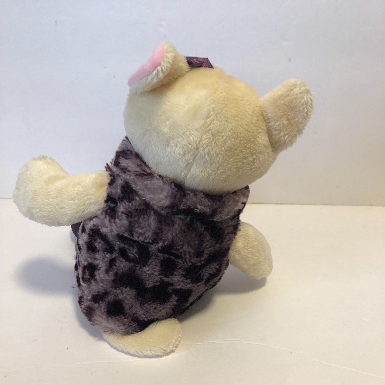 "Mary Meyers Plush Cat with Animal Print Vest & Boots 11.5"" tall"