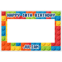 Building Blocks Selfie Frame Photo Booth Prop Poster - $16.34+