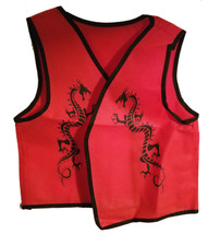 "Ninja ""Red Dragon Vest"" Clothing for Large Puppets * Puppet Accessory  - $5.88"