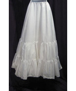 Merry Modes Solid White100% Nylon Bridal A-Line... - $19.99