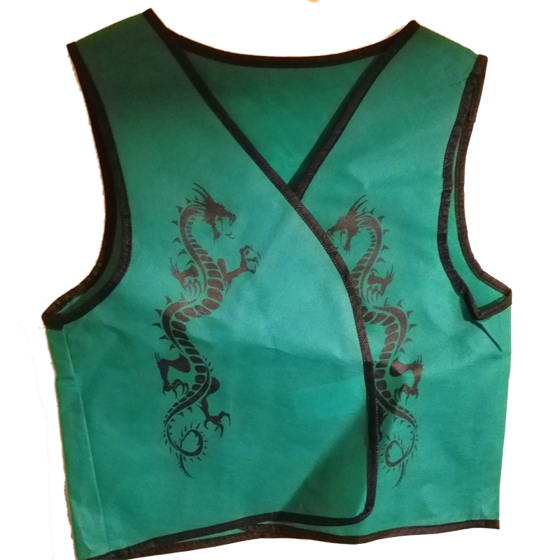 "Ninja ""Green Dragon Vest"" Clothing for Large Puppets * Puppet Accessory"