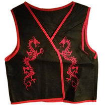 "Ninja ""Black & Red Dragon Vest"" Clothing for Large Puppets * Puppet Acce... - $5.88"