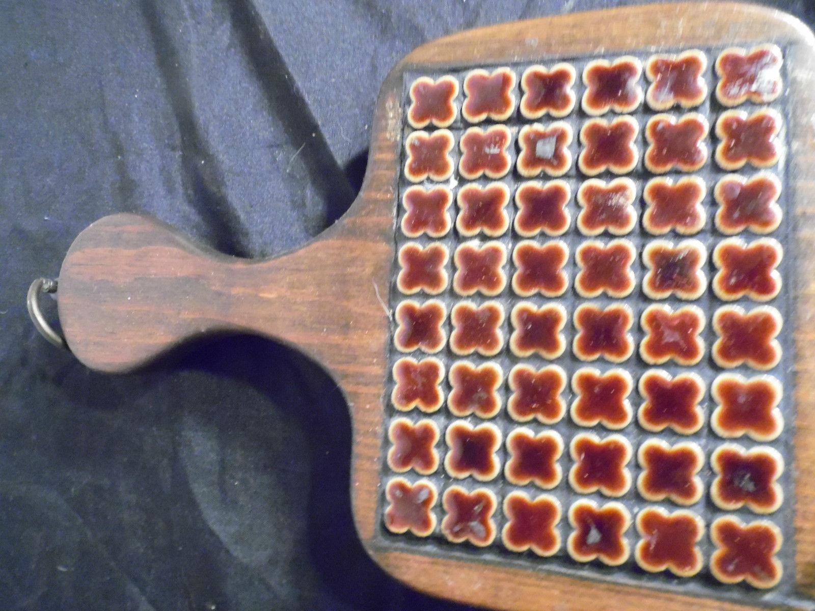 Vintage Retro Wood Trivets Set 3 Wall Hangings Fish Paddle  Hexagon Clovers