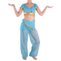 Aladdin Jasmine Costume Princess Belly Dancer Adult Dress Cosplay Hallow... - $48.37