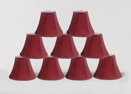 "Urbanest Chandelier mini Lamp Shades, Set of 9, Soft Bell 3""x 6""x 5"", Burgundy - $50.48"