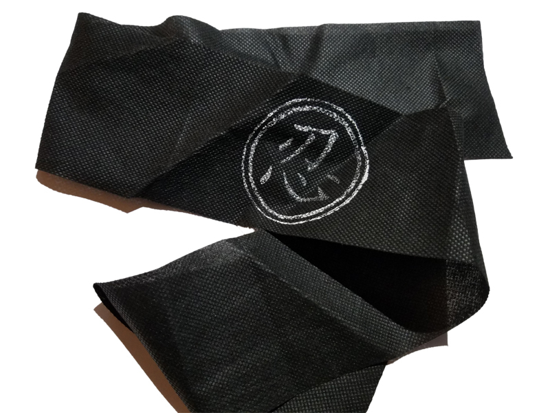 "Ninja ""Black Headband w/Faded Logo"" Clothing for Large Puppets *Puppet Accessory"