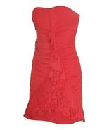 M NIKIBIKI Coral Pink Strapeless/ Strapped Bodycon Ruched Mini RuffleDan... - $35.99