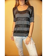 Mossimo Target  Striped Sweater Gray Black size Small NWT - $12.86