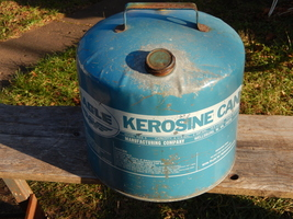 Vintage Blue 5 Gallon Kerosene Can - $15.00