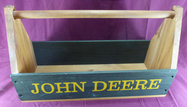 JOHN DEERE Wooden Tool Box Wood Tractor Model D Moline, ILL caddie carrier - $40.00
