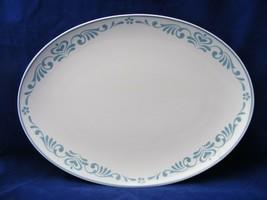 """Franciscan Blue Fancy 13.25"""" Oval Serving Platter Near Mint - $14.00"""