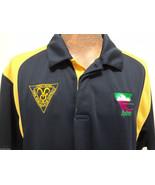 Sydney Rams Club Australia Mens L Tenpin Bowling Navy Blue Yellow Jersey... - $41.65