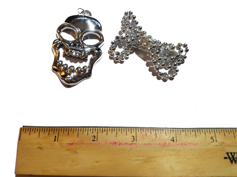 Pirate Silver Skull Necklace * Puppet Accessory