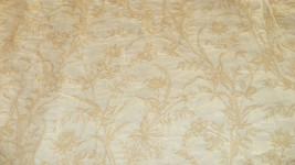 Off White Cream Flower Print Brocade Upholstery Fabric 1 Yd  R631 - $44.95