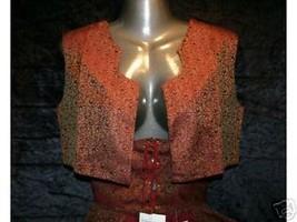 S Steampunk Medieval Renaissance Sash Waist Cincher Vest Costume Top Set... - $11.87