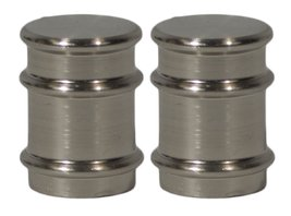 Urbanest Set of 2 Spina Lamp Finials, 1 1/4-inch Tall, Brushed Silver - $15.83