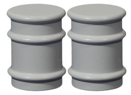 Urbanest Set of 2 Spina Lamp Finials, 1 1/4-inch Tall, Glossy White - $15.83