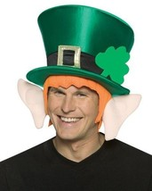 St Patricks Day Hat Ears Adult Leprechaun Costume Green Irish Shamrock Clover - $21.99