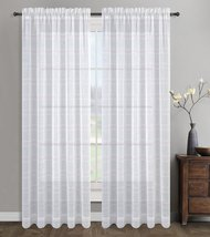 Urbanest 54-inch by 96-inch Chamon Set of 2 Sheer Curtain Drapery Panels... - $27.71