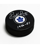 Rick Vaive Toronto Maple Leafs Signed with Years Played Centennial Hockey Puck - $40.00
