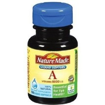 Nature Made Vitamin A 8000 IU Liquid Softgels 1... - $7.87