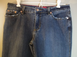 GLO Junior Stretch Flare Denim Jeans Distress Design on Top Pockets Size 11 - $7.12