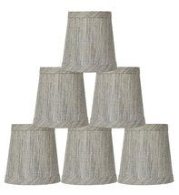 Urbanest Set of 6 Linen Mini Chandelier Lamp Shade, 3-inch by 4-inch by ... - $35.15