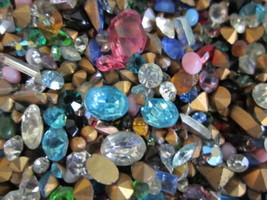 500 Pc.LOt NEw GLASs GEMSTONEs For CRAFTINg/HIGh QUALITy-U.S SELLEr FASt... - $17.08