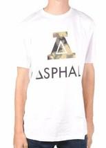 Asphalt Yacht Club Hombre Blanco Verde A Boundary Camiseta Nwt